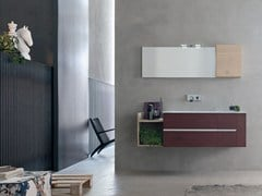 - Bathroom cabinet / vanity unit POLLOCK YAPO - COMPOSITION 42 - Arcom