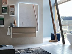 - Bathroom cabinet / vanity unit POLLOCK YAPO - COMPOSITION 45 - Arcom