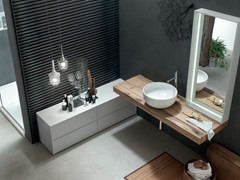 - Washbasin countertop / bathroom cabinet POLLOCK YAPO - COMPOSITION 54 - Arcom
