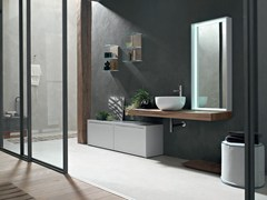 - Washbasin countertop / bathroom cabinet POLLOCK YAPO - COMPOSITION 55 - Arcom