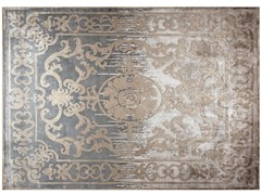 - Patterned handmade custom wool rug POMPADOUR SHADOW - EDITION BOUGAINVILLE