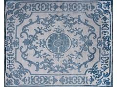 - Patterned handmade custom wool rug POMPADOUR SKY - EDITION BOUGAINVILLE