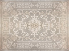 - Patterned handmade custom wool rug POMPADOUR WHITE - EDITION BOUGAINVILLE