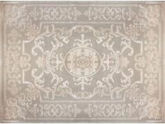 - Patterned handmade custom wool rug POMPADOUR WHITE - EDITION BOUGAINVILLE