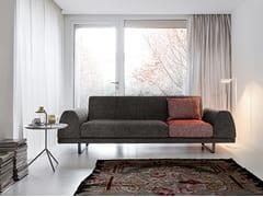 - Sled base 3 seater fabric sofa PORTLAND   3 seater sofa - Dall'Agnese