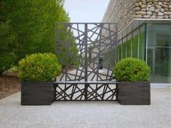 Panchina modulare in acciaio con fioriera integrataPOTTER | Panchina con fioriera integrata - MODULARTE