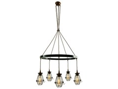 - Industrial style handmade brass chandelier PRAIA 1 TIER | Chandelier - Mullan Lighting
