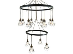 - Industrial style handmade brass chandelier PRAIA 2 TIER | Chandelier - Mullan Lighting