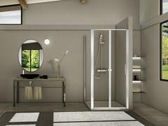 - Corner glass and aluminium shower cabin STILA 2000 | Corner shower cabin - DUKA