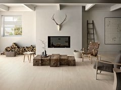 - Ecological porcelain stoneware flooring with wood effect PRIME WHITE - CERAMICHE KEOPE