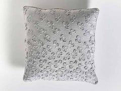 - Square hand embroidered linen cushion PRIMULA | Square cushion - LA FABBRICA DEL LINO by Bergianti & Pagliani