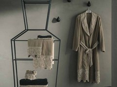 - Linen bathrobe PRIMULA | Bathrobe - LA FABBRICA DEL LINO by Bergianti & Pagliani