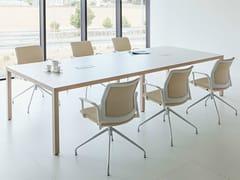 - Wooden office desk PRISMA | Office desk - ACTIU
