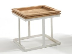 - Low square solid wood coffee table ZOE | Square coffee table - Riva 1920