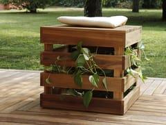 - Wooden garden stool SEDUTA PORTA OGGETTI TURTLE.01 - MENOTTI SPECCHIA PROJECT