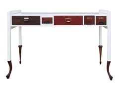 - Rectangular wooden writing desk with drawers 121 - ICI ET LÀ