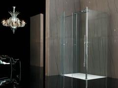 - Corner tempered glass shower cabin RASO-FILODOCCIA CORNER PIVOT - MEGIUS