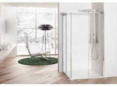 - Corner shower cabin with sliding door SOLODOCCIA SLIDING A - MEGIUS