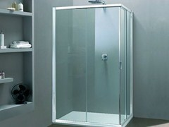 - Corner shower cabin with sliding door MORE LIVE A - MEGIUS