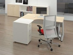 - Individual wooden office workstation FORMAT | Individual office workstation - Las Mobili