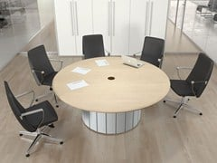 - Round wooden meeting table FORMAT | Round meeting table - Las Mobili