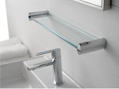 - Glass bathroom wall shelf TANGO | Glass bathroom wall shelf - ZAZZERI