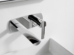 - Wall-mounted steel washbasin mixer TANGO | Wall-mounted washbasin mixer - ZAZZERI