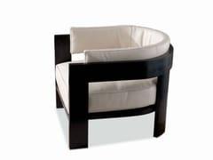 - Armchair WARHOL BLACK LAC. - Minotti