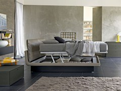 - Leather storage bed with upholstered headboard HONEY | Storage bed - MOLTENI & C.
