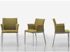 - Upholstered chair with removable cover with armrests DART | Chair with armrests - MOLTENI & C.