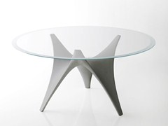 - Round glass table ARC | Round table - MOLTENI & C.