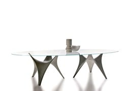- Oval glass table ARC | Oval table - MOLTENI & C.