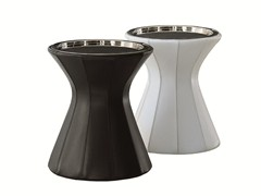 - Round tanned leather coffee table BUDDY | Round coffee table - MOLTENI & C.