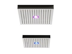 - Ceiling mounted rain shower with built-in lights SHIRÒ   Ceiling mounted overhead shower - ZAZZERI