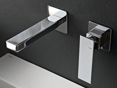 - Wall-mounted chrome-plated bathtub mixer TOSCANO - ZAZZERI