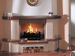 - Gas wall-mounted fireplace BRACIERE SUPERIOR - BRITISH FIRES