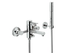 - Wall-mounted bathtub mixer with diverter with hand shower MINI-X | Bathtub mixer - NEWFORM