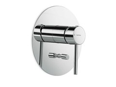 - Wall-mounted single handle bathtub mixer with plate MINI-X | Wall-mounted bathtub mixer - NEWFORM