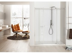 - Niche shower cabin with hinged door SOLODOCCIA PIVOT PB2 - MEGIUS