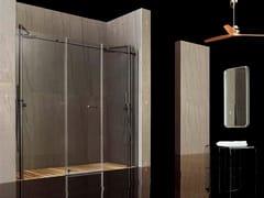 - Niche tempered glass shower cabin RASO-FILODOCCIA PIVOT 2F - MEGIUS