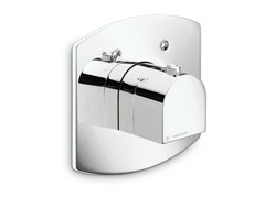 - Single handle thermostatic shower mixer with plate X-LIGHT | Single handle thermostatic shower mixer - NEWFORM