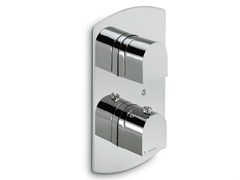 - Thermostatic shower mixer with plate X-LIGHT | Thermostatic shower mixer with plate - NEWFORM