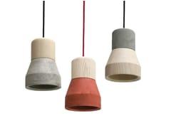 - Cement pendant lamp CEMENT WOOD LAMP - Specimen Editions
