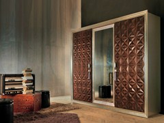 - Mirrored wooden wardrobe DIAMOND | Mirrored wardrobe - Bizzotto