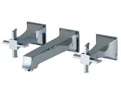 - 3 hole wall-mounted washbasin tap BRIDGE | Wall-mounted washbasin tap - Rubinetterie 3M
