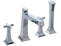 - 4 hole bathtub set with hand shower BRIDGE | 4 hole bathtub set - Rubinetterie 3M