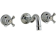 - 3 hole wall-mounted washbasin tap NUOVA RETRÒ | Wall-mounted washbasin tap - Rubinetterie 3M
