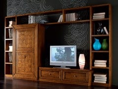 - Sectional wooden storage wall CA' VENIER | Storage wall - Cantiero
