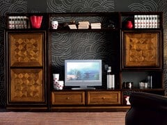 - Sectional wooden storage wall CA' VENIER | Wooden storage wall - Cantiero