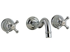 - 3 hole wall-mounted washbasin tap OLD ITALY | Wall-mounted washbasin tap - Rubinetterie 3M
